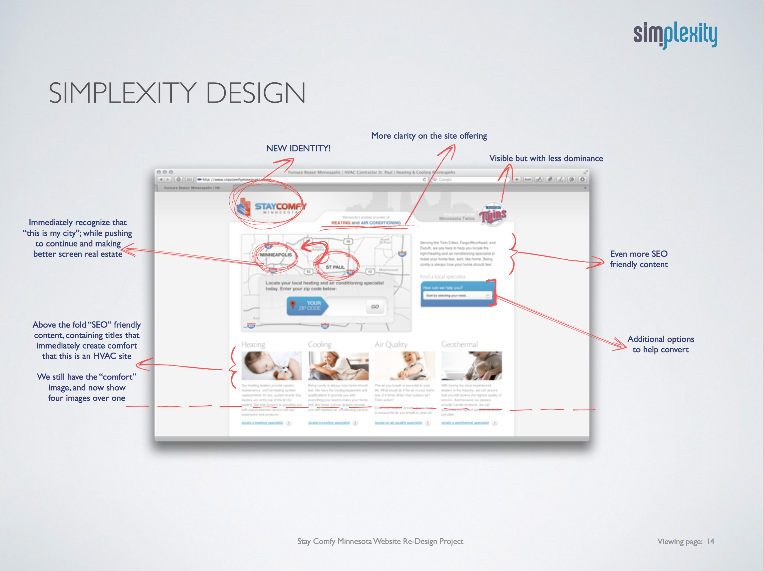 Stay Comfy Minnesota Website Redesign and Development -